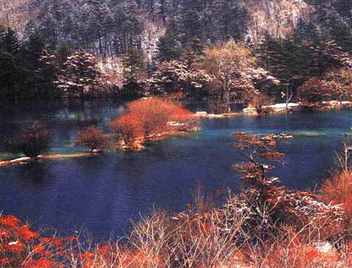 冬季九寨沟风景图片二