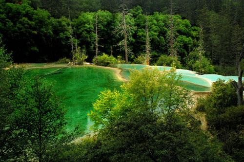 神仙池风景图片