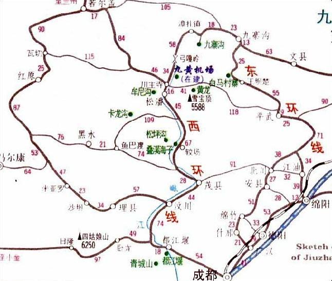 中国地图西安机场